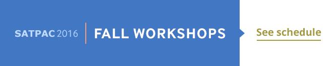 Fall workshops
